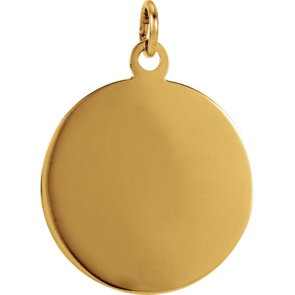 14 k Gelbgold Runde St Jude Thaddeus Anhänger Halskette Medaille 15,25 Schmuck Geschenke für Frauen