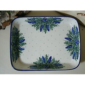 Piatto / casseruola, 19 x 24 x 4 cm, unico 45 - boleslawiec aardewerk - BSN 6594