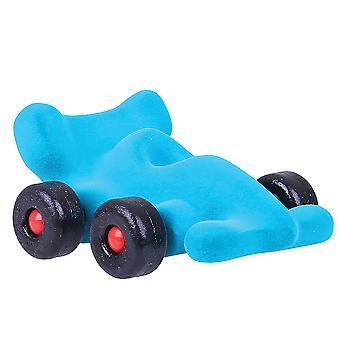 Rubbabu Soft Plush Modena The Little Racer (Turquoise) Sensory Baby Toy