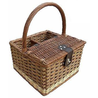 Two Tone Hambledon Empty Picnic Basket