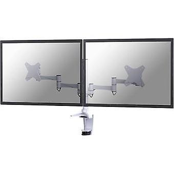 NewStar FPMA-D1330DWHITE 2x Monitor desk mount 25,4 cm (10) - 68,6 cm (27) Height-adjustable, Tiltable, Swivelling, Swivelling