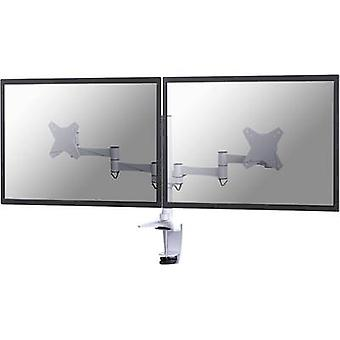 NewStar FPMA-D1330DWHITE 2x skærm bord montering 25, 4 cm (10)-68, 6 cm (27) højde justerbar, vipbar, drejelig, drejelig