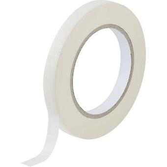 TOOLCRAFT 93038c 187 maskeringstape White (L x B) 50 m x 12.5 mm 1 ruller
