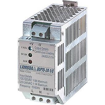 TDK-lambda DLP-75-24-1/E kisko asennettu PSU (DIN) 24 V DC 3,1 A 75 W 1 x