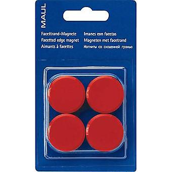 Maul Magnet MAULpro (Ø x H) 30 mm x 10 mm Round, Facet edge Red 4 pc(s) 6177225