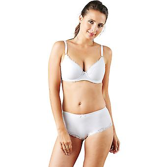 Guy de France 9909-001 Women's White Solid Colour Underwired Padded Bra