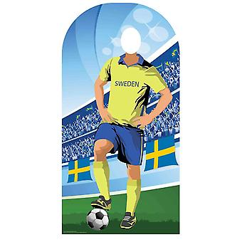 World Cup 2018 Sweden Football Cardboard Cutout / Standee Stand-in