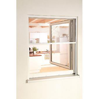 Fliegengitter Insekten-schutz Alu-Fenster-rollo Bausatz 160 x 160 cm in Weiß