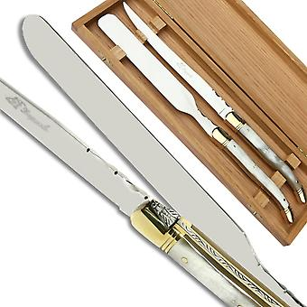 Laguiole Foie gras server blonde  horn handle Direct from France