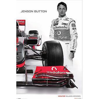 McLaren Mercedes poster Jenson button