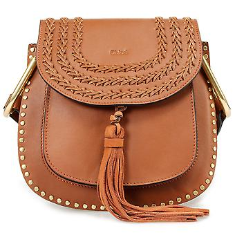 Chloe Hudson Calfskin Shoulder Bag | Caramel with Gold Hardware
