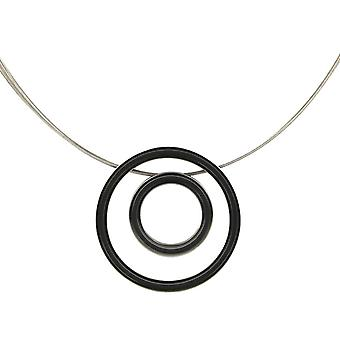 Ti2 טיטניום רטרו כפול ושרשרת כבל תיל-שחור