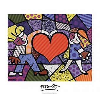 Heart Kids Poster Print by Romero Britto (32 x 28)