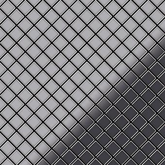 Metal mosaic Stainless Steel ALLOY Diamond-S-S-M
