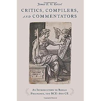 Kriitikot, kääntäjät ja kommentaattorit