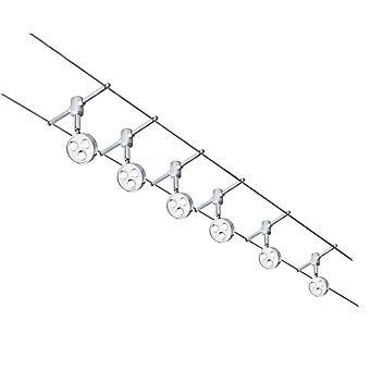 Chrom LED 5M Track Spotlight - Searchlight 6011-6CC