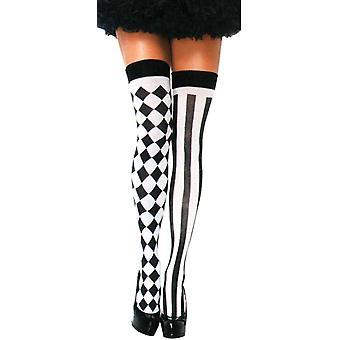 Thigh High Harlequin Stockings