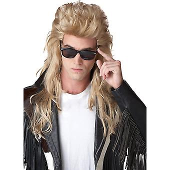 Blonde parykk For 80 's Rock Mullet