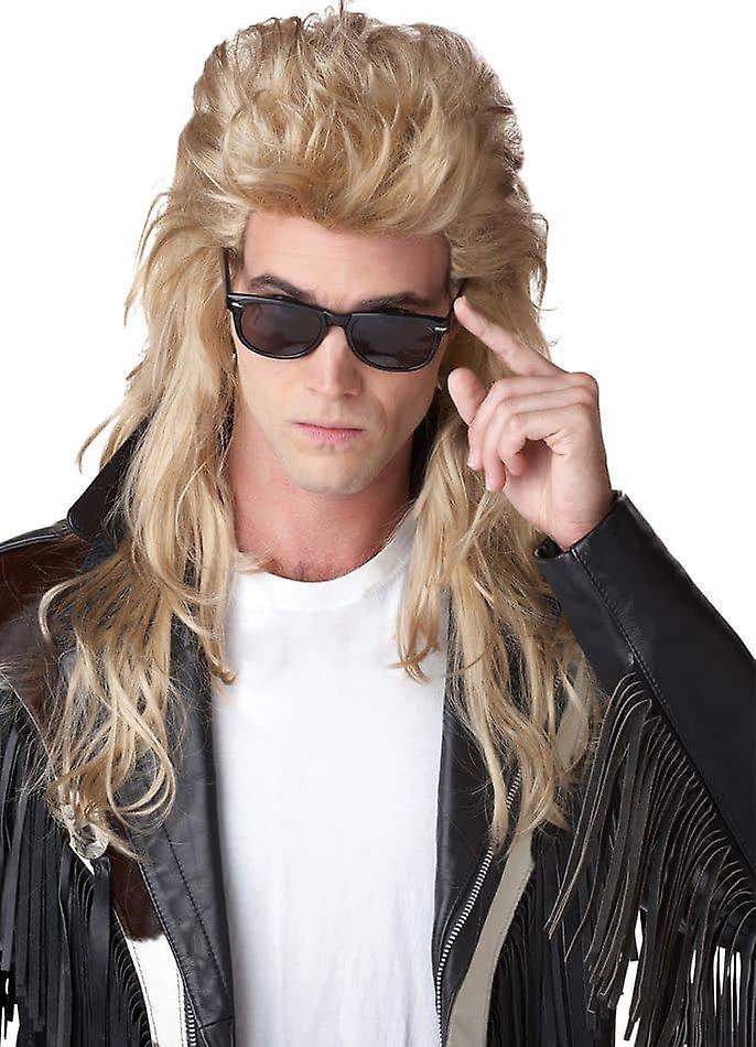 Blonde parykk For 80 's Rock Mullet