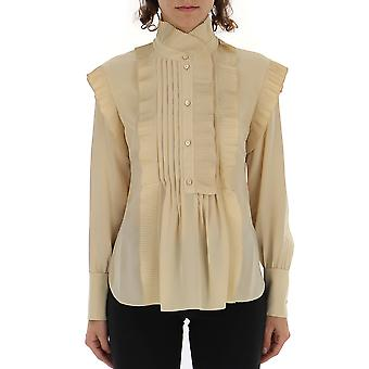 Chloé Chc19sht6900424n Women's Beige Silk Blouse