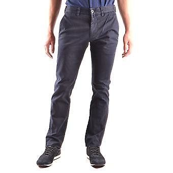 Stone Island Ezbc024017 Men's Blue Cotton Pants