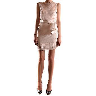 Elisabetta Franchi Ezbc050069 Damen's Rosa Nylon Kleid