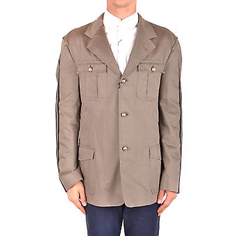 Daniele Alessandrini Ezbc107083 Men's Beige Cotton Outerwear Jacket