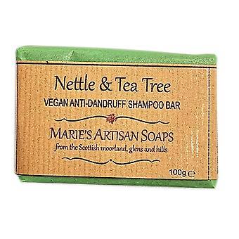 Handmade Vegan Anti Dandruff Shampoo Bar 100g - Nettle & Tea Tree by Marie's Artisan Soaps