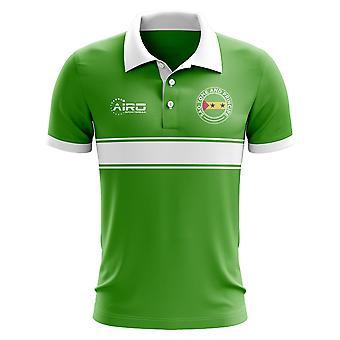 São Tomé e Principe conceito listra camisa Polo (verde)