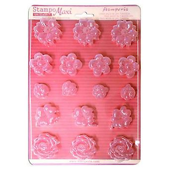 Stamperia Soft Maxi Mould - Flowers & Ladybugs