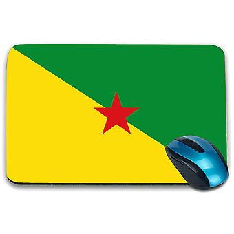 i-Tronixs - French Guiana Flag Printed Design Non-Slip Rectangular Mouse Mat for Office / Home / Gaming - 0214