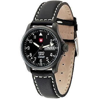 Zeno-watch mens watch basic Army black 12836DDZA-bk-a1