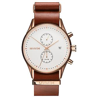 MVMT VOYAGER Rosewood Men's Watch wristwatch leather MV01-RGNA2