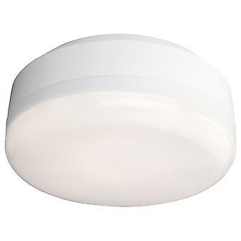 Firstlight-LED badeværelse loft flush lys hvid, hvid polycarbonat diffuser IP44-3432WH