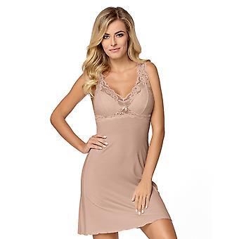 Nipplex mujer Bona MOCCA beige bordado encaje noche vestido loungewear camisón