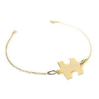 h! Jewellery Sterling Silver Puzzle Piece Bracelet