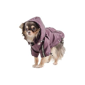 Ancol piccolo morso impermeabile cane Mac in Damson - XX Small