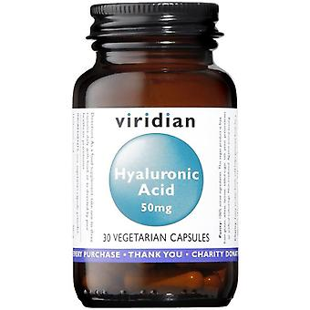 Viridian Hyaluronic Acid 50mg Veg Caps 30 (393)
