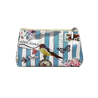 Dames Ella nautische Bird Wash tas en make-up tas