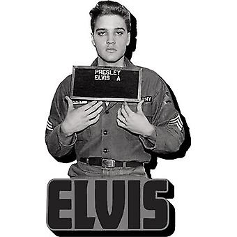 Magnet - Elvis - Enlistment Photo Funky Chunky New Licensed 95504