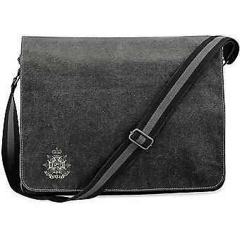 Border Regiment - Concesso in licenza British Army ricamato Vintage Canvas Spedizione Messenger Bag