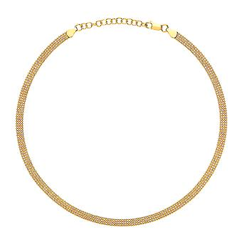 Jewelco London Ladies Gold-Plated Sterling Silver 4 Row Bead Cage Choker Collier Collier 5mm 14.5-16.5'quot;