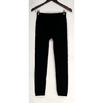 Slim 'N Lift Leggings S/M Croco Printed Pull On Stretch Knit Black S420345