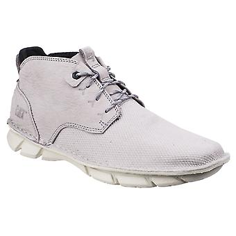 CAT Lifestyle Mens Almanac Canvas Lace Up Boot Silver