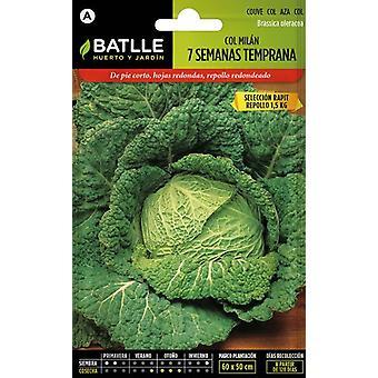 Batlle 7 Weeks Early Cabbage Sel. Rapit (Garden , Gardening , Seeds)