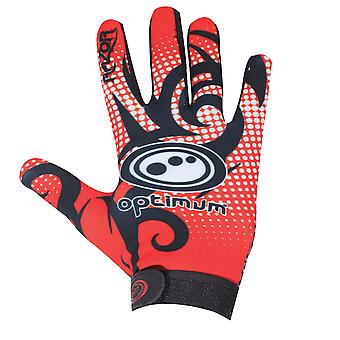 Optimale Geschwindigkeit Razor Full Finger Thermal Rugby Handschuh schwarz/rot