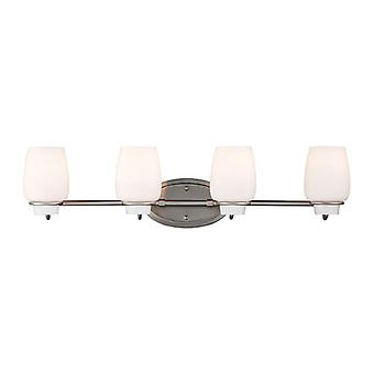 Feiss VS40004-BS Colby 4-Light Vanity Strip Light Fixture Brushed Steel Finish