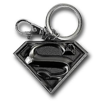 Superman Silber Symbol Zinn Schlüsselanhänger