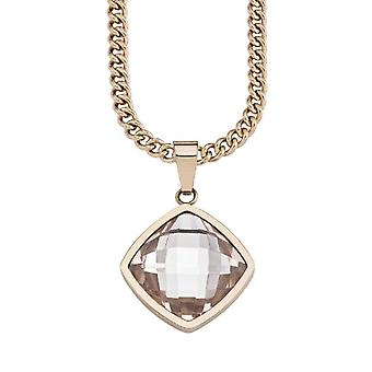 s.Oliver - Chain with women's pendant in stainless steel with crystal - 750 mm