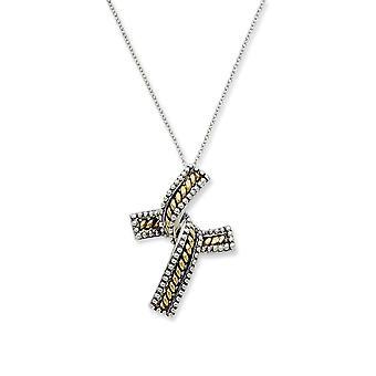 925 anillo de primavera de plata esterlina Rhodium plateado acabado y oro Flashed finalización 18 pulgadas collar joyería regalos para Wome